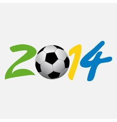 football 2014 vector image vector image