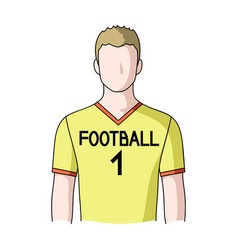 footballerprofessions single icon in cartoon vector image