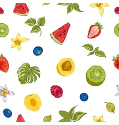 Healthy food eco seamless background vector