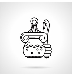 Honey jar black line icon vector image vector image