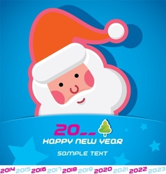 Merry Christmas Santa Claus New Year Card vector image