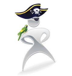 Metallic pirate character vector