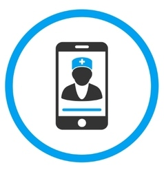 Mobile Doctor Rounded Icon vector image
