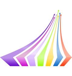 Multicolored arrows background vector image