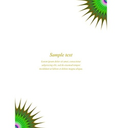 Multicolored page corner design template vector image