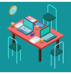 Office workplace modern workspace business vector