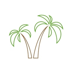 palms tree isolated vector image vector image