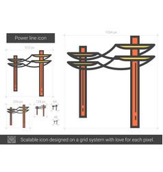 Power line icon vector
