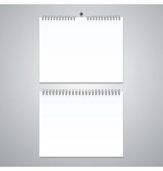 Realistic Calendar Template Blank Set vector image vector image