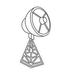 satellite antenna isolated icon vector image vector image
