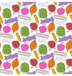 School pattern with color blots vector image vector image