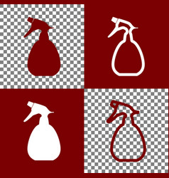 Spray bottle for cleaning sign bordo and vector