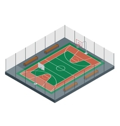 Basketball court Sport arena 3d render vector image