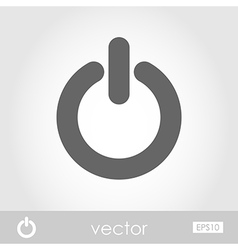 Start icon power button sign vector