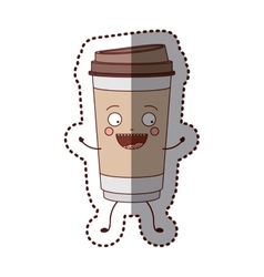 Isolated coffee mug design vector