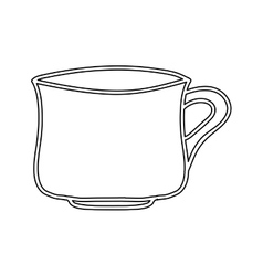 Silhouette porcelain mug utensil kitchen vector