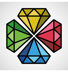 diamond symbol vector image