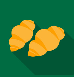 Gnocchi pasta icon in flate style isolated on vector