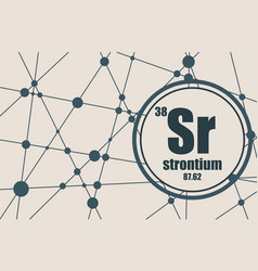 Strontium chemical element vector