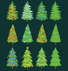 Christmas tree ornament design vector