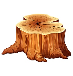 A big tree stump vector