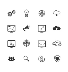 Search engine optimization icons vector