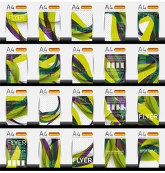 Set of business geometric design flyer templates vector image