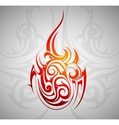 Fire flame ornament vector