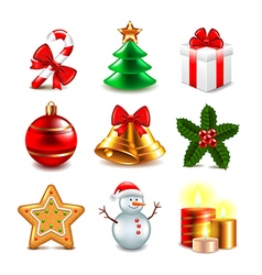 Christmas objects set vector