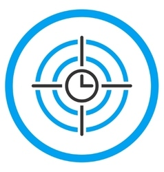 Time target rounded icon vector