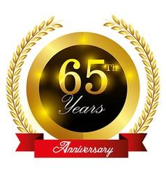 Anniversary label design vector image vector image