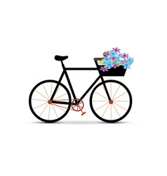 Bicycle with flower vector