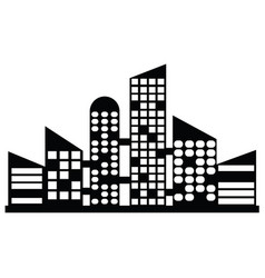 black city icons vector image