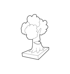 Cut tree icon outline style vector