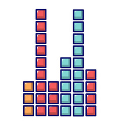 Equalizer icon cartoon style vector