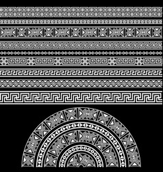 Ethnic design set borders decoration elements vector