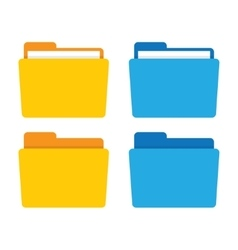 File folder in flat style vector
