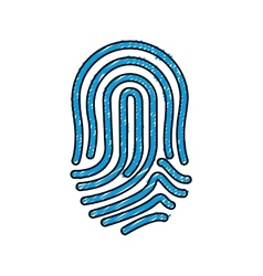 Finger print icon vector