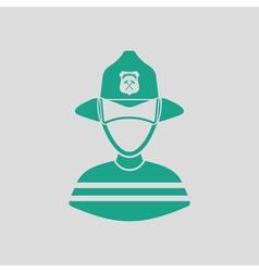 Fireman icon vector