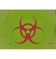 grunge background biohazard vector image