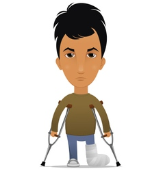 Guy with a leg fracture vector