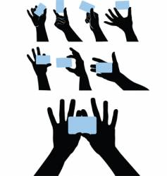 Hand cards vector