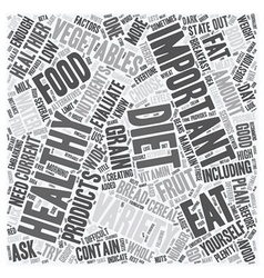 How To Find Out If Your Diet Is Healthy Enough vector image vector image