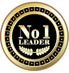 number one leader vector image vector image