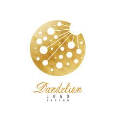 Original logo design of dandelion flower symbol vector