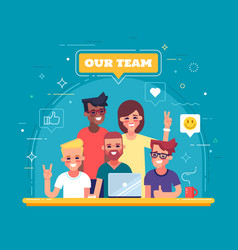 our team - modern flat vector image vector image