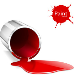 Paint can red vector