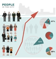 People in the city vector image