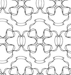Ribbon seamless pattern vector image vector image