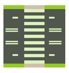 Road with pedestrian zone icon cartoon style vector